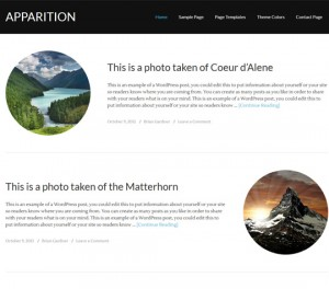 Apparition Theme by StudioPress