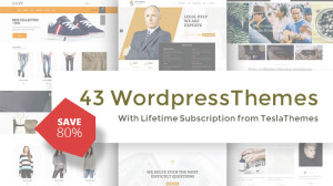 43 WordPress Themes from TeslaThemes for only $39
